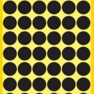 Черные этикетки-точки из бумаги, ? 12, 3140