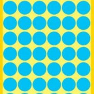 Синие этикетки-точки из бумаги, ? 12, 3142