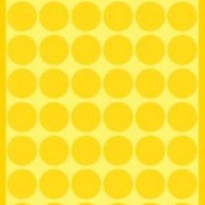 Желтые этикетки-точки из бумаги, ? 12, 3144