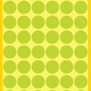 Неоновые зелёные этикетки-точки из бумаги, ? 12, 3149