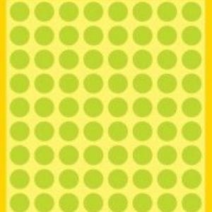 Неоновые зелёные этикетки-точки из бумаги, ? 8, 3179