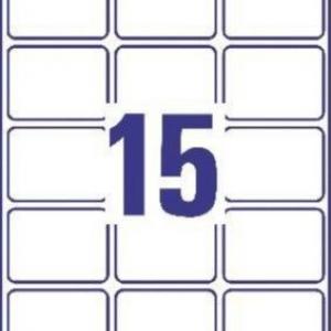 Белые глянцевые этикетки из бумаги, 63.5 x 46.6, C6080-10