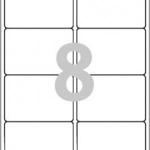 Белые глянцевые этикетки из бумаги, 99.1 x 67.7, L7765-40