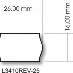 Белые бумажные удаляемые этикетки-ценники, 26 x 16, L3410REV-25