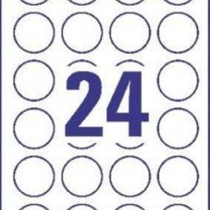 Белые бумажные круглые этикетки для привлечения внимания, ? 40, L3415-100