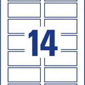 Непросвечивающиеся белые бумажные этикетки для матричного кодирования, 80 x 35, L7122-25