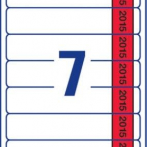 Белые этикетки для папок на 2015 год из бумаги, 38 x 192, L4760J15-20