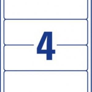 Белые этикетки для папок из бумаги, 61 x 192, L4761REV-20
