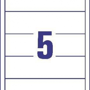Белые вкладыши для папок-регистраторов из картона, 54 x 190, C32267-25