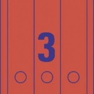 Красные непрозрачные этикетки из бумаги для папок , 61 x 297, L4752-20