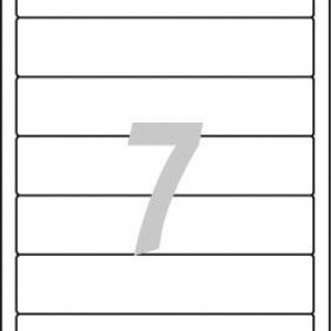 Белые короткие непрозрачные этикетки из бумаги для папок, 192 x 38, L4760-25