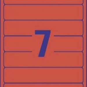 Красные короткие непрозрачные этикетки из бумаги для папок, 192 x 38, L4762-20