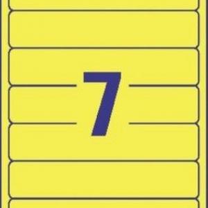 Желтые непрозрачные этикетки из бумаги для папок, 192 x 38, L4765-20