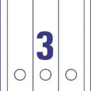 Белые длиные нерпозрачные этикетки из бумаги для папок, 59 x 297, L6059-25