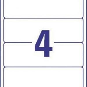 Белые непрозрачные этикетки из бумаги для папок, 192 x 59, L6061-25