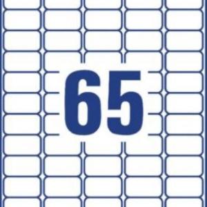 Прозрачные мини-этикетки из полиэстера,38,1 x 21,2, L7551-25