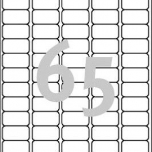 Белые бумажные мини-этикетки, 38.1 x 21.2, L7651-25