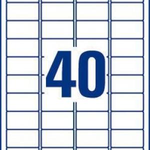 Белые бумажные мини-этикетки, 45.7 x 25.4, L7654-25