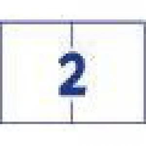 Универсальные белые этикетки из бумаги, 105 x 148, 6134
