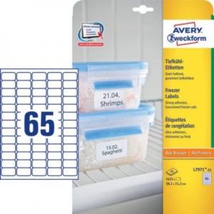 Белые морозостойкие этикетки из бумаги, 38,1 x 21,2, L7971-25