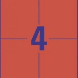 Универсальные красные этикетки из бумаги, 105 x 148, 3456