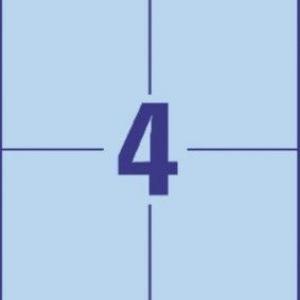 Универсальные синие этикетки из бумаги, 105 x 148, 3457