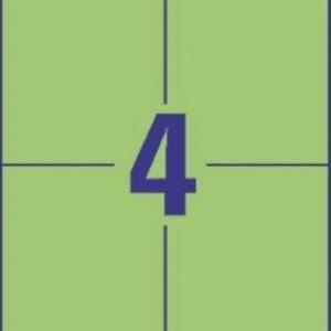 Унивесальные зелёные этикетки из бумаги, 105 x 148, 3458
