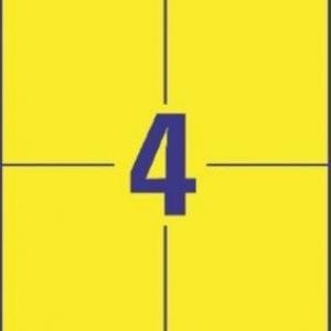 Универсальные жёлтые этикетки из бумаги, 105 x 148, 3459