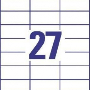 Белые универсальные этикетки из бумаги, 70 x 32, 3479