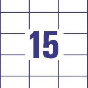 Белые универсальные этикетки из бумаги, 70 x 50.8, 3669
