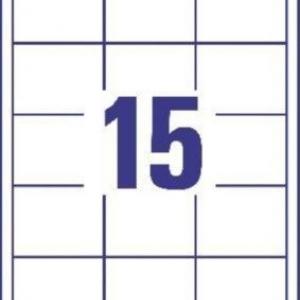 Белые универсальные этикетки из бумаги, 64 x 50, 3672