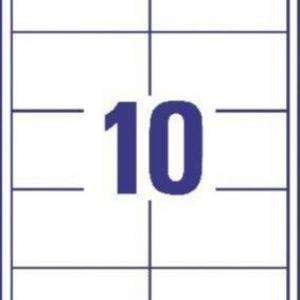 Белые универсальные этикетки из бумаги, 97 x 55, 3679