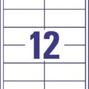 Универсальные белые этикетки из бумаги, 97 x 42.3, 4781