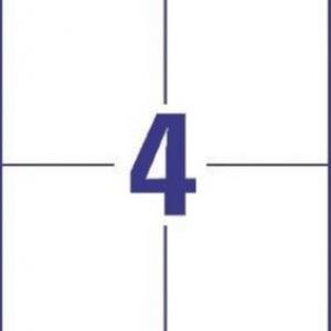 Универсальные белые этикетки из бумаги, 105 x 148, 6120