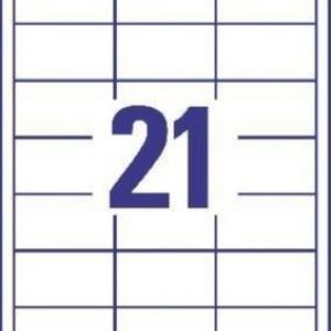 Универсальные белые этикетки из бумаги, 64 x 36, 6170