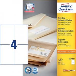 Белые универсальные эко- этикетки из бумаги, 105 x 148, LR3483