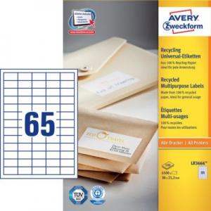 Белые универсальные эко- этикетки из бумаги, 38 x 21.2, LR3666