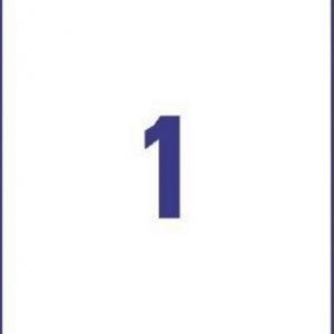 Удаляемые белые этикетки из бумаги, 210 x 297, L4735REV-25