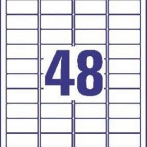 Удаляемые белые мини-этикетки из бумаги, 45.7 x 21.2, L4736REV-25