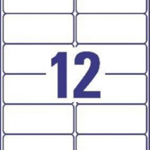 Удаляемые белые этикетки из бумаги, 99.1 x 42.3, L4743REV-25