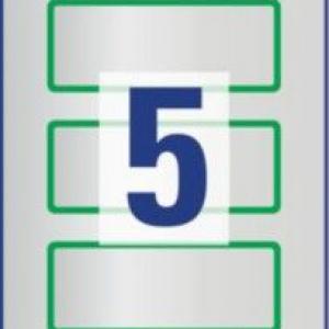 Зелёные чистые инвентарные этикетки из полиэстера, 50 x 20, 6916