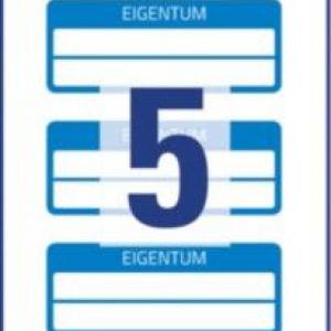 Синие инвентарные этикетки VOID с 2 полями для текста из полиэстера, 50 x 20, 6924