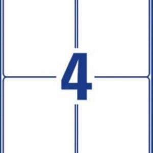 Белые всепогодные удаляемые этикетки из полиэстера, 99,1 x 139, L4774REV-20