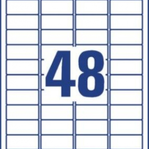 Белые всепогодные удаляемые этикетки из полиэстера, 45,7 x 21,2, L4778REV-20
