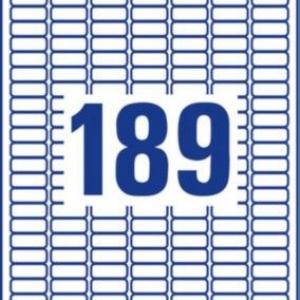 Белые этикетки со сверхсильным клеем из бумаги, 24,4 x 10, L7871-20