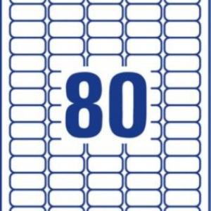 Белые этикетки со сверхсильным клеем из бумаги, 35,6 x 16,9, L7872-20