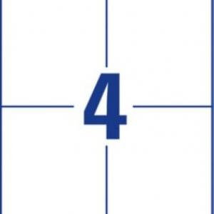 Белые этикетки со сверхсильным клеем из бумаги, 105 x 148, L7876-20