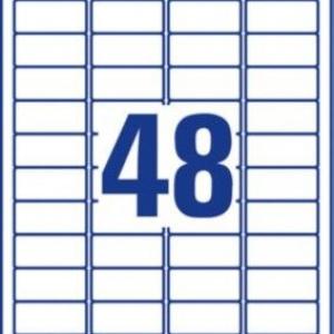 Белые суперпрочные пленочные этикетки из полиэстера, 45,7 x 21,2, L7911-10