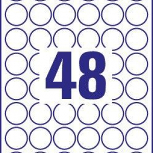 Белые стойкие этикетки из полиэстера, ? 30 мм, L4716-20