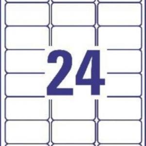 Белые высокопрочные этикетки из полиэстера, 63.5 x 33.9, J4773-10